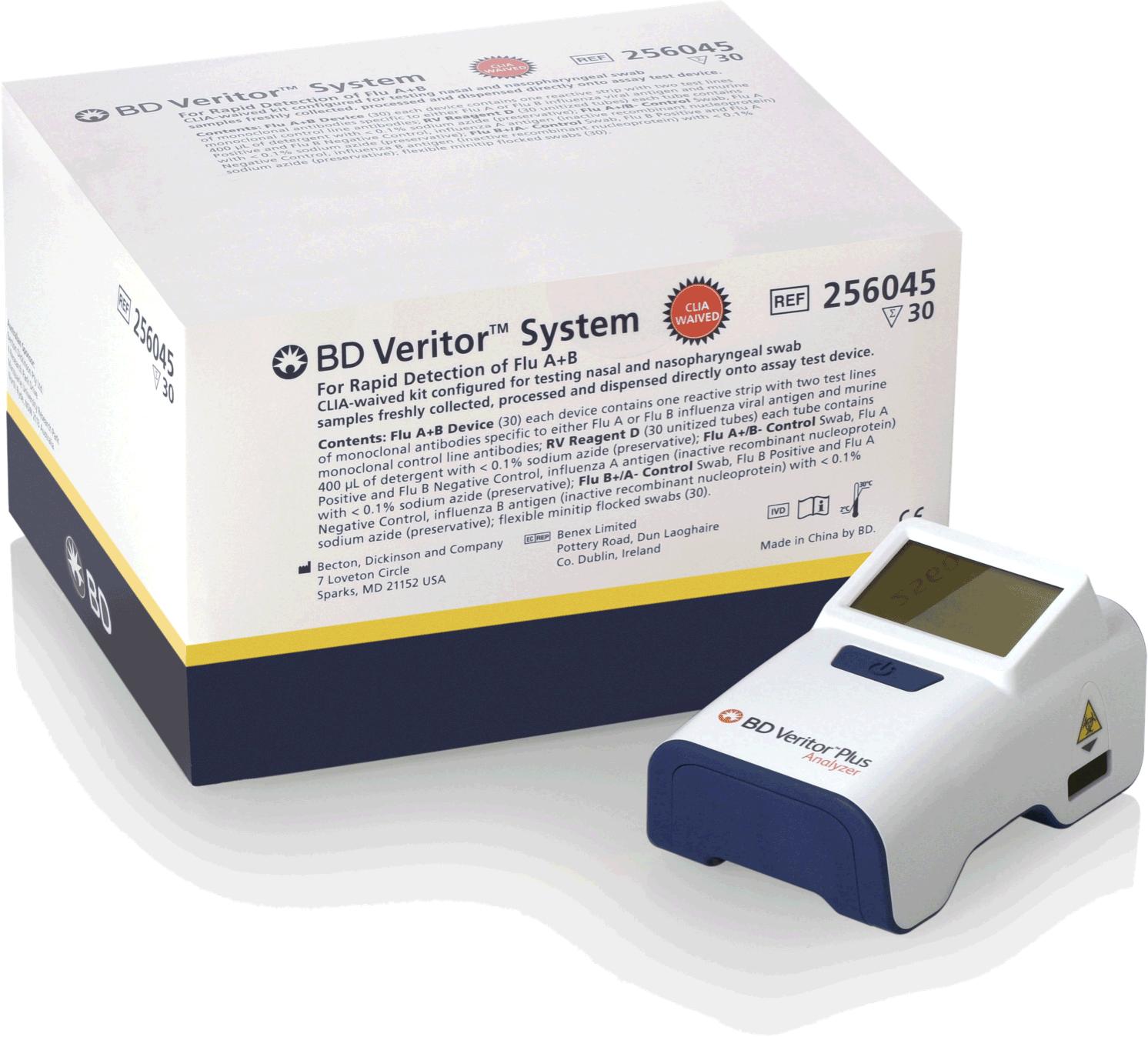 BD Veritor Flu A+B kit and the BD Veritor Plus Analyzer