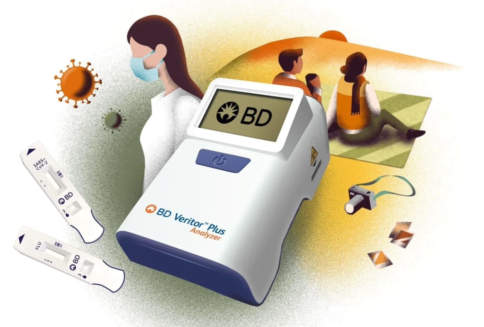 BD Veritor Plus Analyzer, Assays, Family, Medical Professional illustration