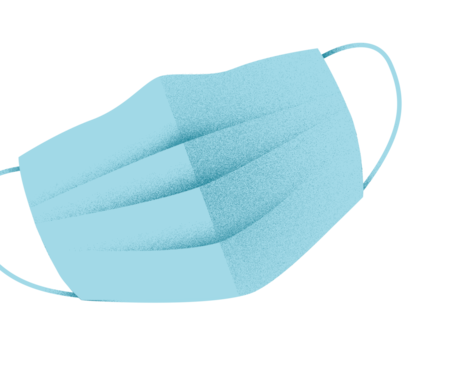 Surgical mask illustration